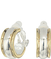 LAUREN Ralph Lauren - Back to Basics II Two-Tone Wedding Band Clip Hoop Earrings