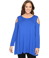 Vince Camuto Specialty Size - Plus Size Long Sleeve Cold-Shoulder Top