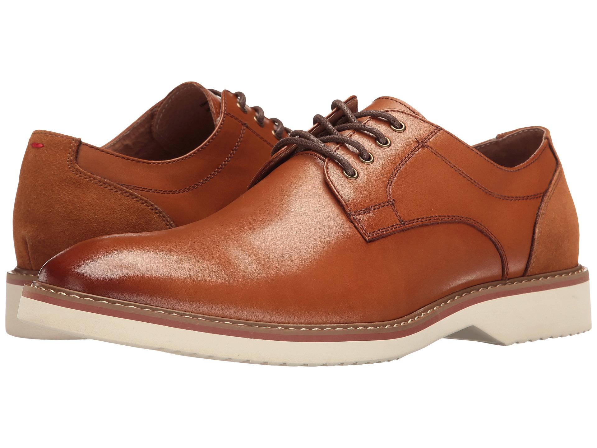 57d1efa8644 Details about Florsheim Men's Union Plain Oxford Full-grain leather Cognac  Shoes 15125-221