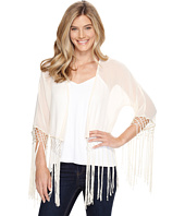 Roper - 0947 Cream Georgette Fringed Cardigan