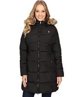 U.S. POLO ASSN. - Fur Hooded Long Puffer Jacket