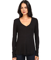 Splendid - 1x1 Long Sleeve V-Neck Top