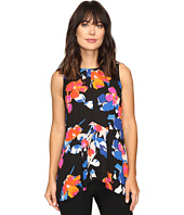 Vince Camuto - Sleeveless Floral Rendezvous Ruffle Front Blouse