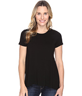 Vince Camuto - Short Sleeve High-Low Hem Top with Woven Back