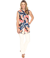 Vince Camuto - Sleeveless Modern Tropics Button Up Tunic