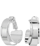 LAUREN Ralph Lauren - City Chic Silver Metal Double Wrap Clip Hoop Earrings