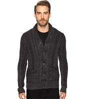Lucky Brand - Snowpeak Cable Shawl Cardigan Sweater