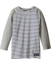 Toobydoo - Navy Stripe Baseball Tee (Infant/Toddler/Little Kids/Big Kids)