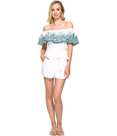 Mara Hoffman - Embroidered Off the Shoulder Romper