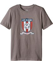 Life is Good Kids - Soccer Crest Crusher Tee (Little Kids/Big Kids)