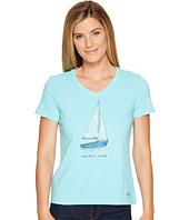 Life is Good - Peaceful Sailboat Crusher Vee