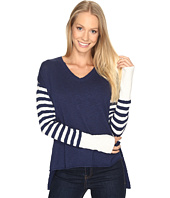 Life is Good - V-Neck Slouchy Sweater