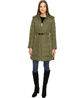 Kate Spade New York - Hooded Hard Down Coat w/ Faux Fur Trim 36