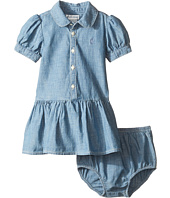 Ralph Lauren Baby - Short Sleeve Chambray Dress (Infant)