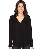HEATHER - Silk Double Layer Long Sleeve Top