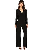 KAMALIKULTURE by Norma Kamali - Long Sleeve Modern Side Drape Jumpsuit