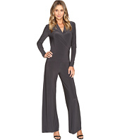 KAMALIKULTURE by Norma Kamali - Long Sleeve Modern Side Drape Jumpsuit