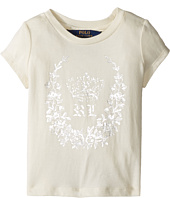 Polo Ralph Lauren Kids - Enzyme Jersey Short Sleeve Graphite Tee (Toddler)