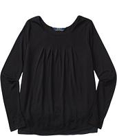 Polo Ralph Lauren Kids - Rayon Jersey Knit to Woven Top (Little Kids/Big Kids)