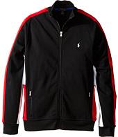 Polo Ralph Lauren Kids - Long Sleeve Full Zip Mock Neck Shirt (Big Kids)