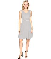 CATHERINE Catherine Malandrino - Check Jacquard Sleeveless Fit & Flare Dress