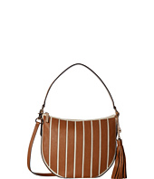 MICHAEL Michael Kors - Applique Stripe Canvas Brklyn Medium Conv Hobo
