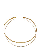 Dogeared - Plain Collar Choker w/ Draped Chain Necklace
