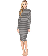 CATHERINE Catherine Malandrino - Cut & Sew Rib Long Sleeve Mock Neck Dress