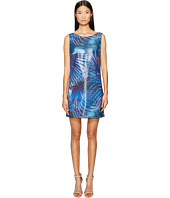Just Cavalli - Tie-Dye Palm Print Sleeveless Dress
