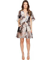 Just Cavalli - Palm Print Sheer Short Dress
