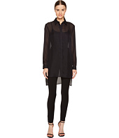 Versace Collection - Sheer Collared Long Sleeve Blouse