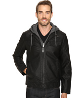 Perry Ellis - Faux Leather Bomber