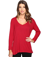 Michael Stars - Slub Long Sleeve V-Neck w/ Side Slit