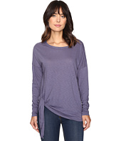 Michael Stars - Supima Cotton Slub Long Sleeve Tie Up Tee