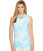PUMA Golf - Bloom Stripe Sleeveless Polo