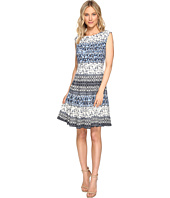 Christin Michaels - Adriane Printed Fit and Flare Dress