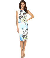 Christin Michaels - Opal Floral Print Midi Dress with Shoulder Detail