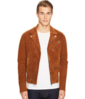 The Kooples - Destroyed Suede Perfecto Motorcycle Jacket