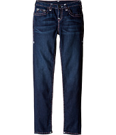 True Religion Kids - Casey White and Pink Combo Super T Jeans in Tear Drop Blue (Big Kids)