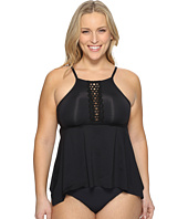 BECCA by Rebecca Virtue - Plus Size Black Beauties Tankini Top