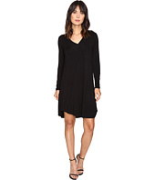 HEATHER - Long Sleeve V Pocket Tee Dress