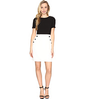 Maggy London - Mystic Crepe Button Trim Dress
