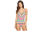 In Living Color Plunge X-Back Mio One-Piece