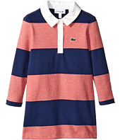 Lacoste Kids - Long Sleeve Striped Rugby Dress (Toddler/Little Kids/Big Kids)