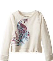 Lucky Brand Kids - Pullover Crew Neck Shirt with Peacock Design (Toddler)
