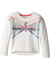 Lucky Brand Kids - French Terry Pullover Shirt with Embroidery and Fringe Trim (Toddler)