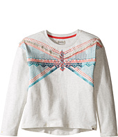 Lucky Brand Kids - French Terry Pullover Shirt with Embroidery and Fringe Trim (Big Kids)