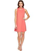 Christin Michaels - Harlyn Sleeveless Dress with Neckline Detail