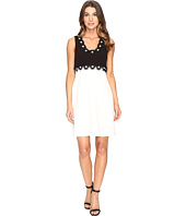 Christin Michaels - Aviana Sleeveless Dress with Flower Detail