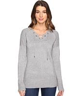 Calvin Klein - V-Neck Lace-Up Sweater